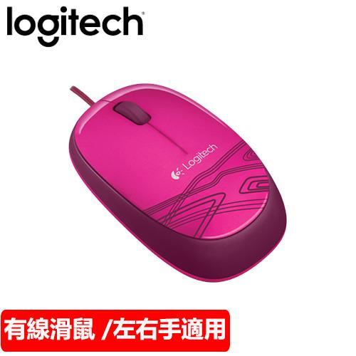 Logitech 羅技 M105 有線光學滑鼠 粉