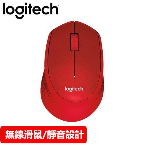 Logitech 羅技 M331 無線靜音滑鼠 紅