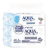【AQUA水】濕式衛生紙(48抽*3包x12串/箱)