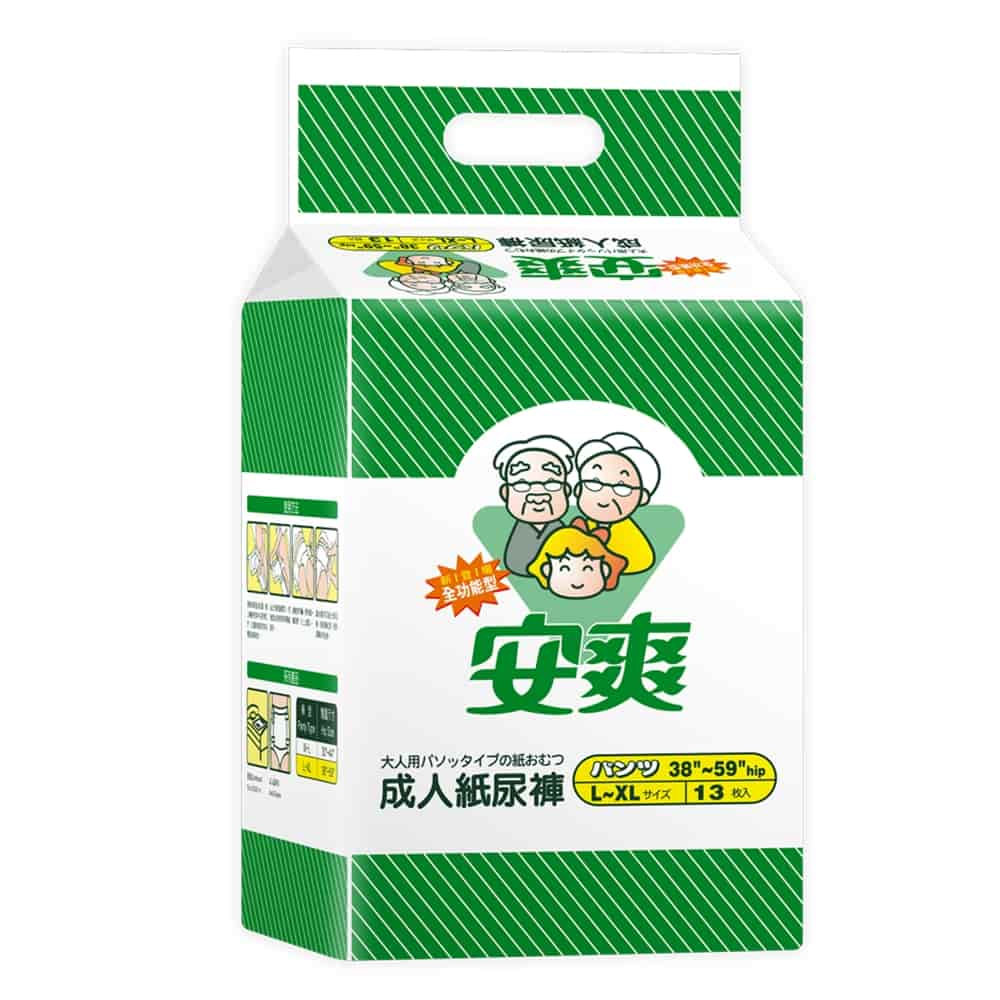 【安爽】全功能成人紙尿褲L-XL號 防漏加強型 (13片x6包)【特價1099】