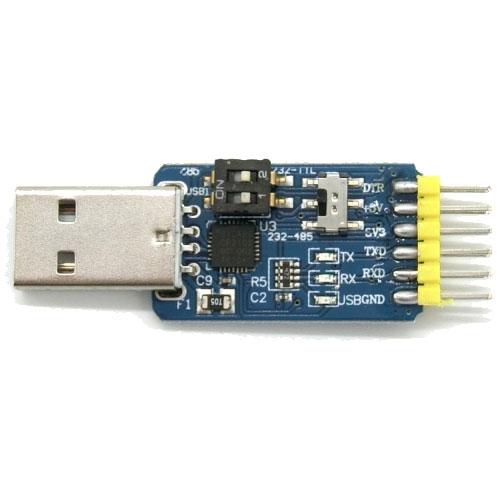 六合一多功能模組CP2102 USB轉TTL/485/232互轉 3.3V/5V兼容