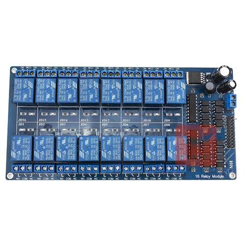 12V 16路繼電器模組