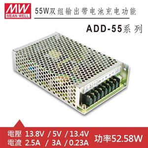 MW明緯 ADD-55A 13.8V/5V/13.4V 特殊用途電源供應器 (52.58W)