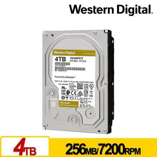 WD4003FRYZ 金標 4TB 3.5吋企業級硬碟