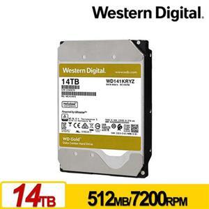 WD141KRYZ 金標 14TB 3.5吋企業級硬碟