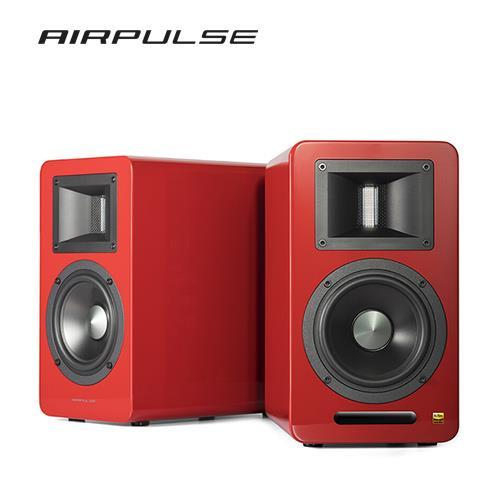 AIRPULSE A100 2.0聲道 藍牙喇叭音響 -限量紅