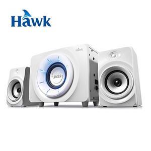 Hawk神魔之眼2.1聲道藍牙多媒體喇叭(白)