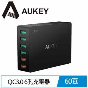 AUKEY PA-T11 6孔 60W QC3.0 6孔充電器