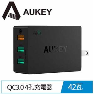 AUKEY PA-T14 3孔 42W QC3.0 3孔充電器