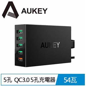 AUKEY PA-T15 5孔 54W QC3.0 5孔充電器