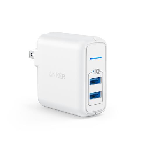 Anker A2023 PowerPort 充電座 2PORT (白)