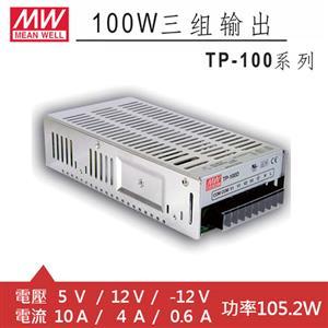 MW明緯 TP-100B 5V/12V/-12V機殼型交換式電源供應器 (105.2W)