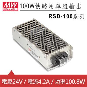 MW明緯 RSD-100D-24 24V內置機殼型 (100.8W)