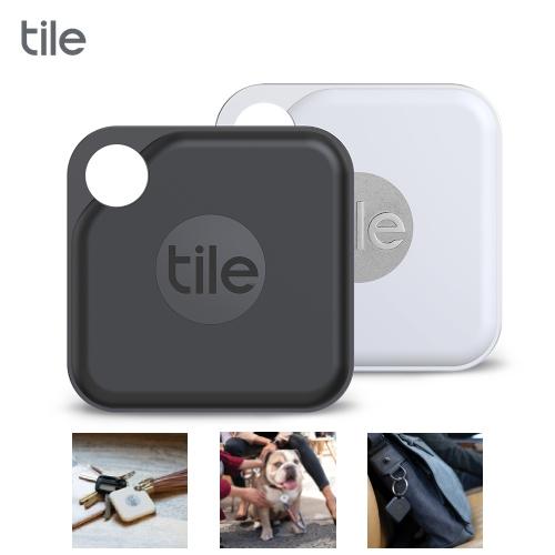 Tile Pro 2.0  智慧藍芽防丟尋物器  2入(白色+黑色)