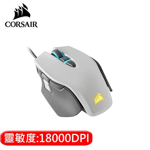 CORSAIR 海盜船 M65 RGB ELITE 電競滑鼠 -白