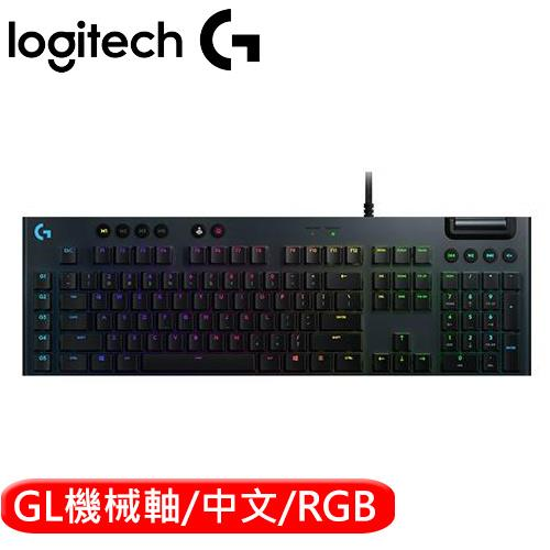 Logitech 羅技 G813 LIGHTSYNC RGB 機械式遊戲鍵盤 GL機械青軸(敲擊感軸