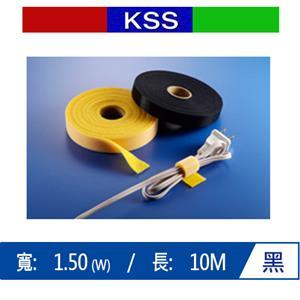 KSS MGTP-15 黏扣式紮線帶 10M(捲) -黑