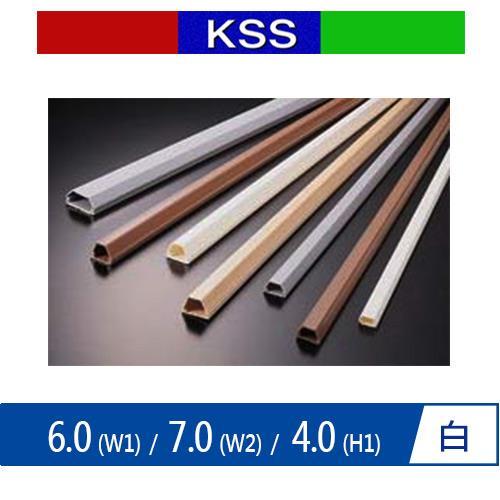 KSS凱士士 TC-1WE 電話配線槽 1M 白色
