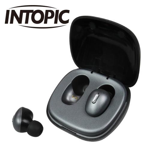 INTOPIC 真無線藍牙耳機 灰色 JAZZ-TWE03-GR