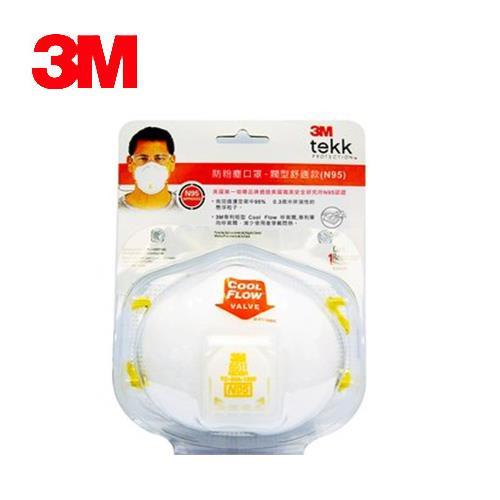 3M Tekk (N95) 防粉塵口罩- 閥型舒適款