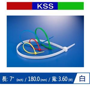 KSS CV-180K 尼龍紮線帶 白 (1000 PCS)