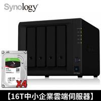 【16T企業雲端伺服器】Synology NAS+IronWolf 4TB四顆