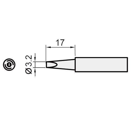 Pro'sKit 寶工  5SI-216N-3.2D  扁尖烙鐵頭 1入裝
