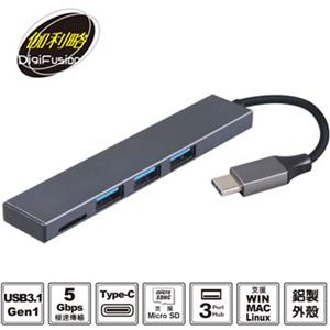 伽利略 Type-C USB3.1HUB+MicroSD 讀卡機