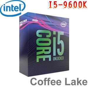 Intel英特爾 Core i5-9600K 處理器 (無風扇)