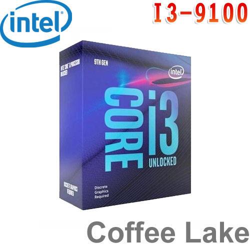 Intel英特爾 Core i3-9100 處理器