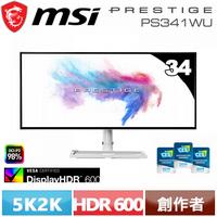 MSI微星 34型 Prestige PS341WU 創作者螢幕