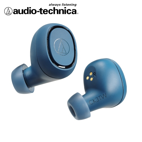 audio-technica 鐵三角 ATH-CK3TW 真無線藍芽耳機-藍色