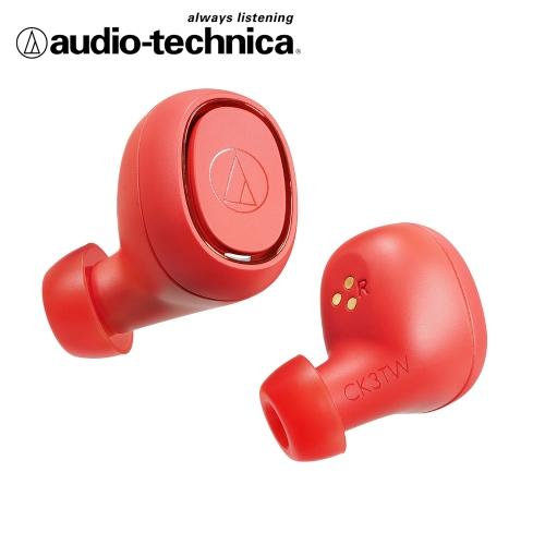 audio-technica 鐵三角 ATH-CK3TW 真無線藍芽耳機-紅色