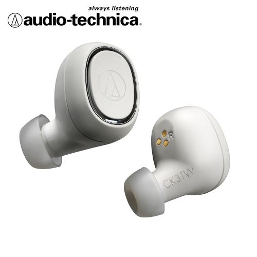 audio-technica 鐵三角 ATH-CK3TW 真無線藍芽耳機-白色
