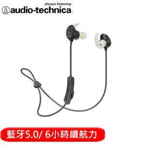 audio-technica 鐵三角 SPORT60BT 頸掛藍牙無線耳機麥克風-黑