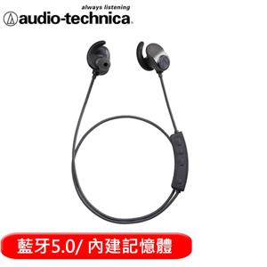 audio-technica  鐵三角 SPORT90BT 頸掛藍牙無線耳機麥克風組-深灰黑