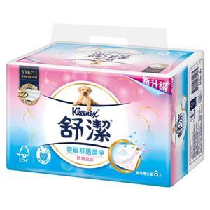 舒潔炫彩特級舒適潔淨抽取衛生紙110抽x8包x4串/ 箱
