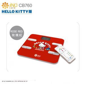 iNO 合晶 Hello Kitty  CB760 藍牙體重計 -紅