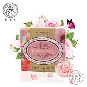 英國賽玫特Somer自然歐洲乳油木香皂150g-玫瑰花瓣X3