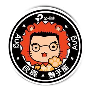 【良興 x tp-link聯名專屬】陶瓷吸水杯墊-自信獅子座