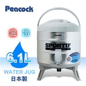 日本原裝【Peacock孔雀牌】6.1L不鏽鋼保溫保冷茶桶 INS-60