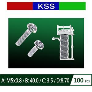 KSS PF-540N 塑膠螺絲 圓頭十字 (100PCS)