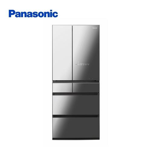 Panasonic650L鏡面玻璃六門日製黑  NR-F655WX-X1