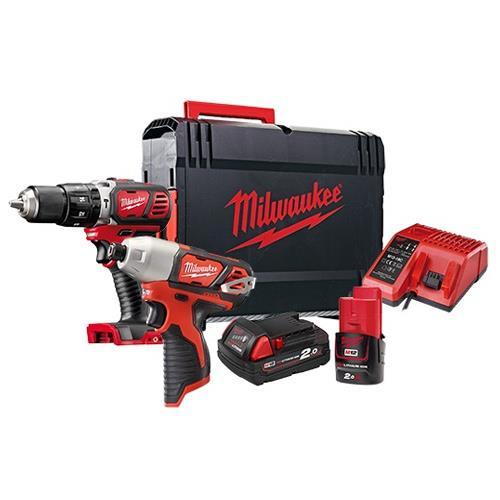 Milwaukee 米沃奇 震動電鑽雙機組