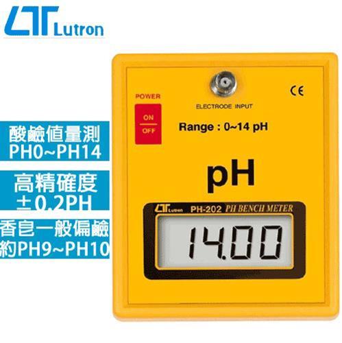 Lutron路昌 檯面式PH酸鹼計 PH-202