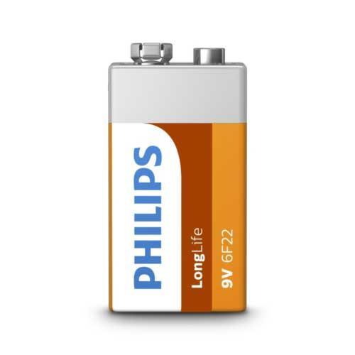 PHILIPS 飛利浦 碳鋅9V電池1入(熱縮)
