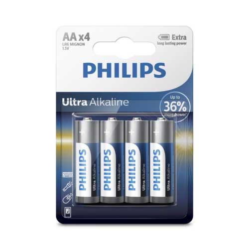 PHILIPS 飛利浦 超鹼性3號電池4入(背卡)