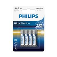 PHILIPS 飛利浦 超鹼性4號電池4入(背卡)