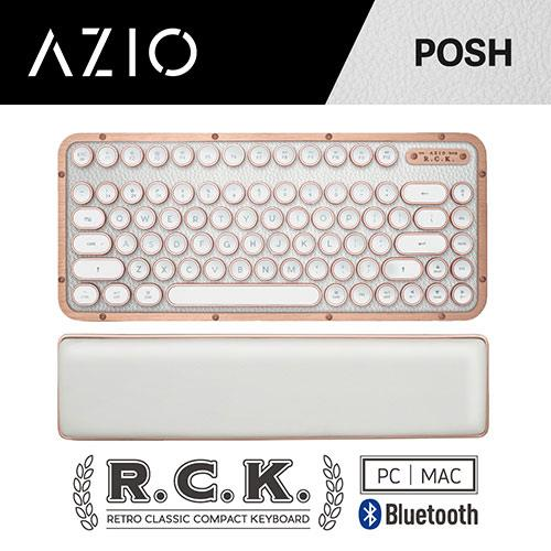 AZIO R.C.K. POSH BT 藍牙真牛皮短版鍵盤 中文 (PC/MAC)