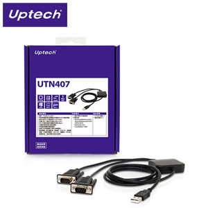 Uptech UTN407 USB to 2-Port RS-232訊號轉換器
